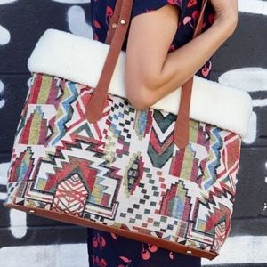 Pink Haley Reversible South West Print Tote